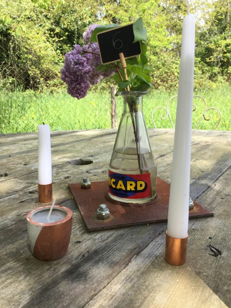 mariage industriel bougies